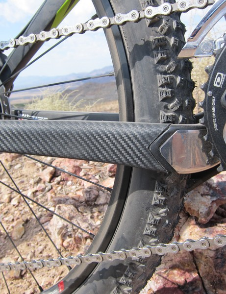 Pivot includes lots of protection for sensitive areas like the chain stay and down tube