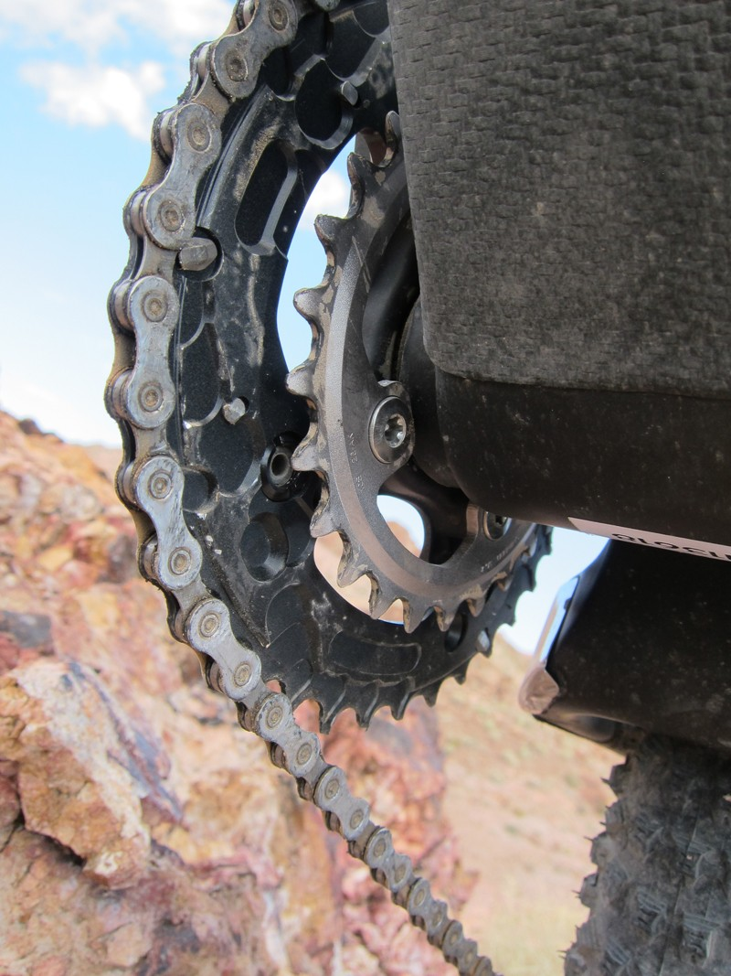 As it sits currently there is no provision for a chain guide on the Pivot Mach 5.7 Carbon but a bolt-on solution is apparently coming in about six months