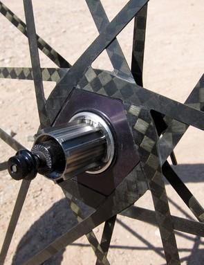 Mad Fiber's old driveside spoking arrangement used individual spokes bonded together