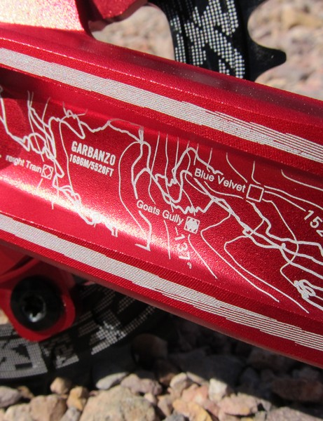 The graphics on the new Race Face Atlas crank pay homage to the company's home turf