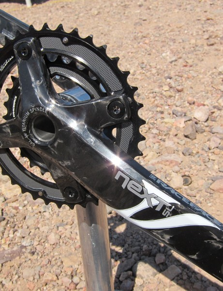Race Face's Next SL carbon cranks continue to be one of the lightest cross-country options on the market