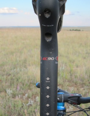 Like most Easton posts, the EC90 is graduated to help with proper saddle height