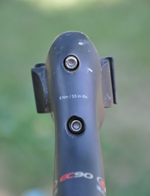 Though cleverly hidden, the 4mm saddle adjuster bolts are easily reachable