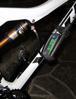 The Smart Pump attaches to the frame and provides real-time pressure readouts