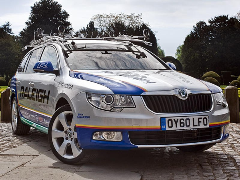 Skoda are providing race support during this year's Tour of Britain