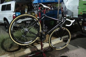 Tim Johnson started Cross Vegas on a 'prototype' Cannondale Super X frame, we didn't find a difference between his black bike and his teammates 'team' bikes