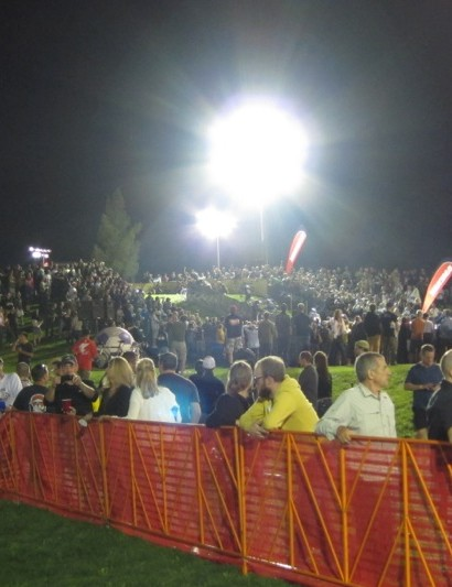 The crowds grew for the professional women and men's events