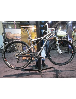 Moots showed off its new Divide cross-country full-suspension bike at this year's Interbike show