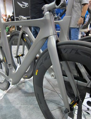 The second-tier NeilPryde Bayamo will get a conventional carbon fork once it becomes available next spring