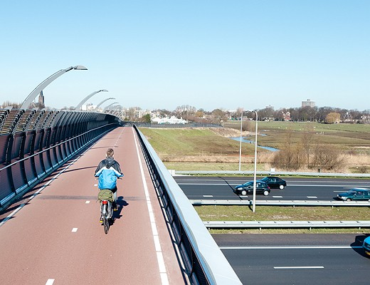 An example of a current Dutch bicycle highway