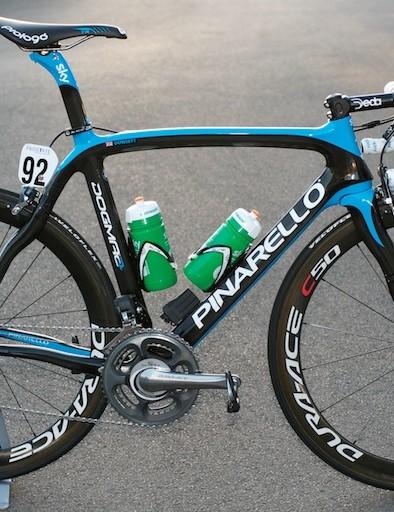 Alex Dowsett's Sky Pinarello Dogma 2 at the Tour of Britain