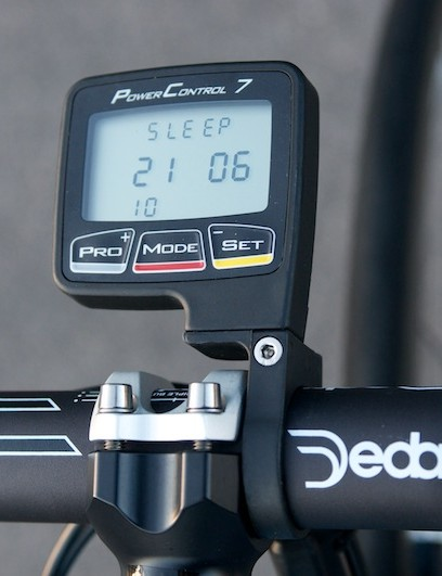 SRM Power Control 7 head unit, in black this year rather than last season's Sky blue.