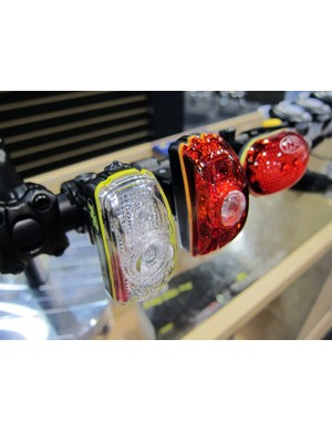 Niterider's CherryBomb rear flasher (left) is obnoxiously bright - just the thing to alert drivers of your presence