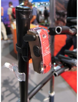 The Light & Motion Vis 180 puts out 35 lumens of red LED light along with amber side markers for extra visibility