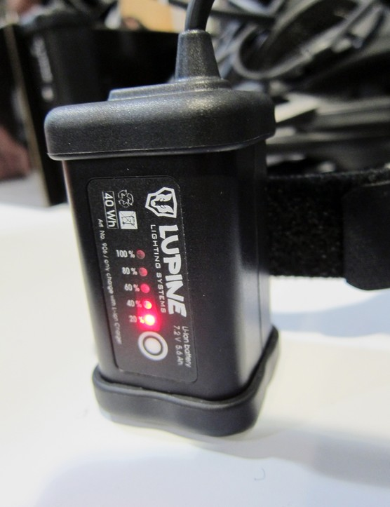 Lupine's new hardcase batteries are more resistant to weather while also providing on-board charge indicators