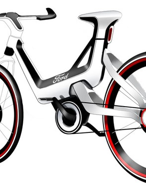 A sketch of Ford's e-bike concept