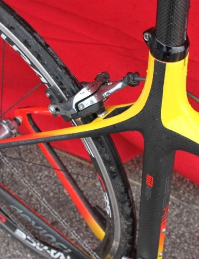 The straight seatstays are claimed to offer more comfort