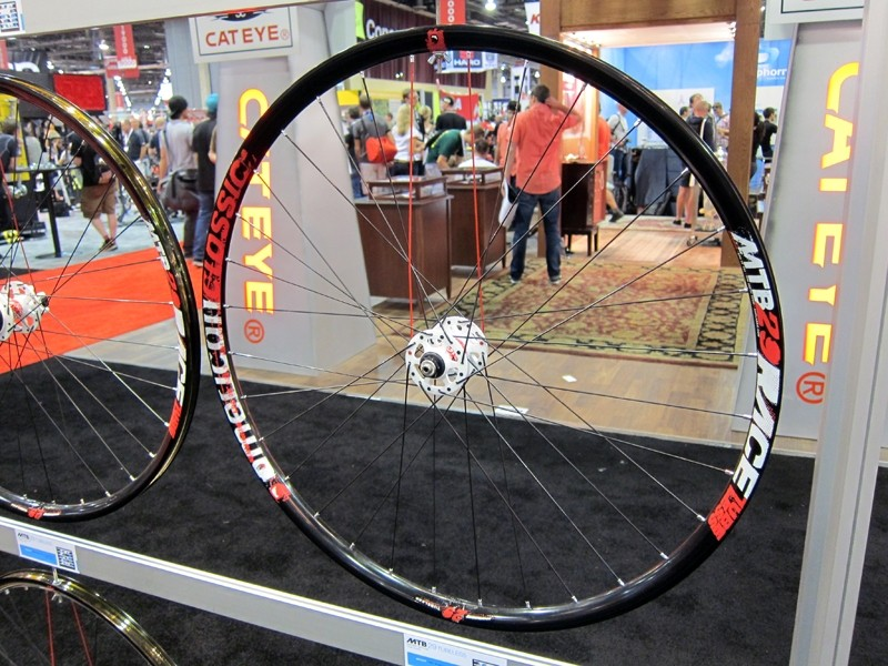 "American Classic unveiled new tubeless-compatible MTB Race wheels at this year's Interbike show in both 26"" and 29"" sizes."