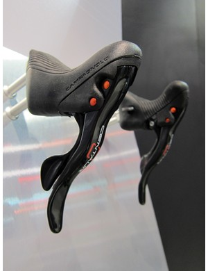 The Campagnolo Centaur group gets red accents for 2012 to help increase its appeal to OEM customers.