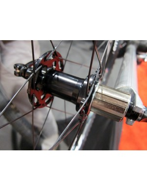 The Rolf Prima VCX 'cross wheels use White Industries hub internals but with stainless steel freehub bodies instead of the titanium ones on higher-end models.