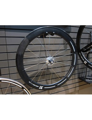 3T's intriguing Mercurio carbon aero wheels use a unique method for anchoring the spokes in the rim.