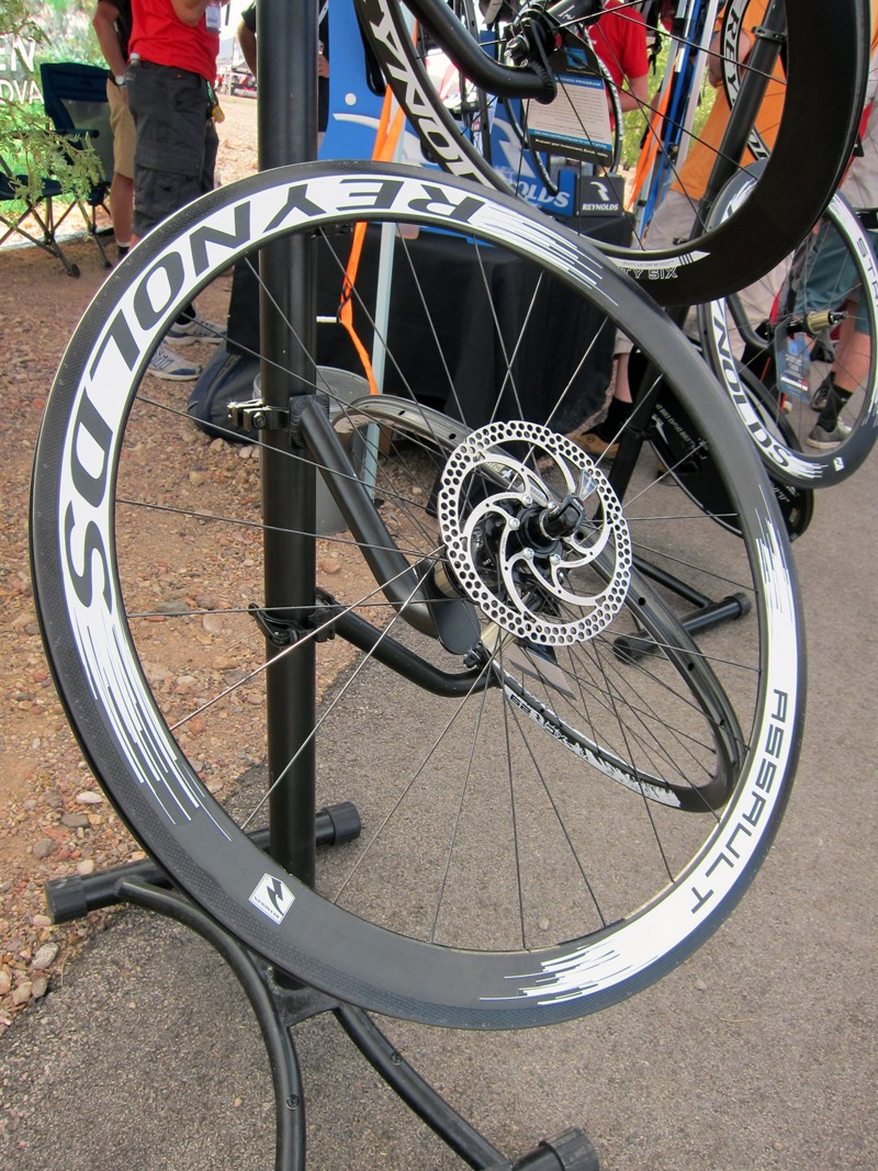 Reynolds' new Assault disc-compatible wheels can be used with either disc brakes or rim brakes - as long as your frame is spaced for 135mm rear hubs.