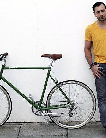 Jonathan Kelsey, shoe designer, rides a Classic Tokyobike