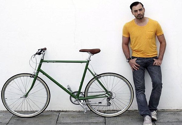 Jonathan Kelsey, shoe designer, rides a Classic Tokyobike