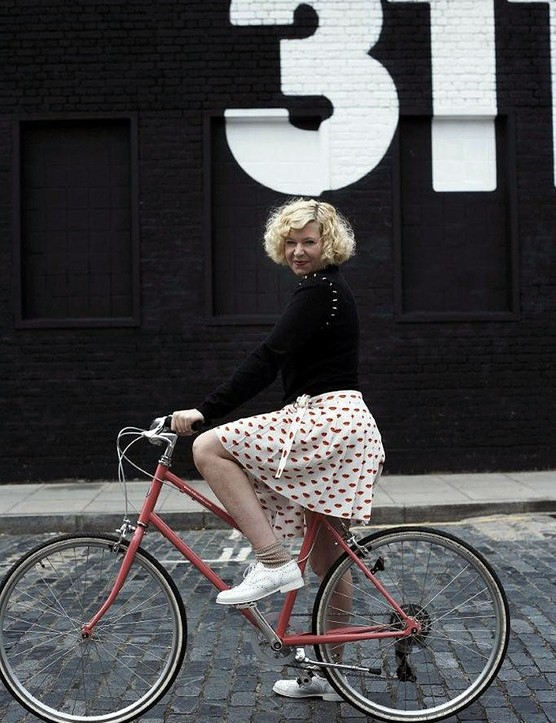 Hazel Robinson, fashion stylist and one half of British label House of Jazz, rides a Bisou by Tokyobike