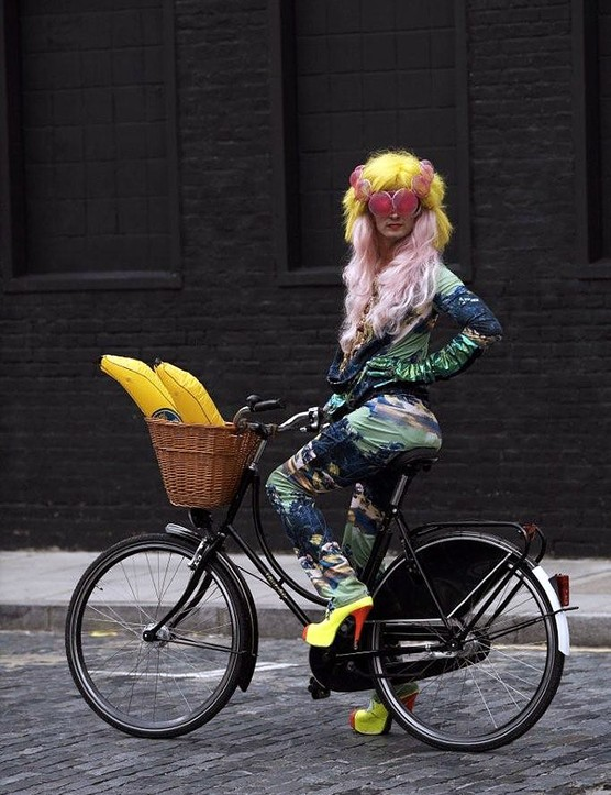 Jonny Woo, Queen of London's drag scene, rides a 'Chic' 3-speed Dutchie