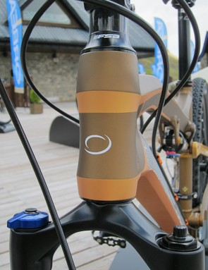 """Orbea opted for a standard 1 1/8"""" head tube to keep the aluminum version's price down a bit"""