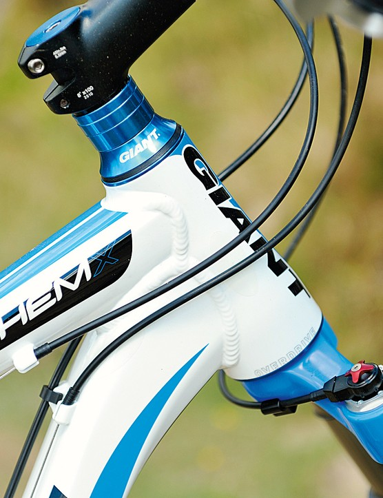 The 'Over Drive' tapered head tube is a new feature  for 2011