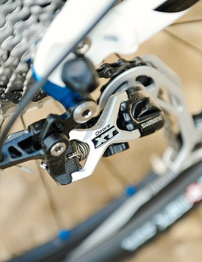 Shimano XT kit is in place to take care of transmission