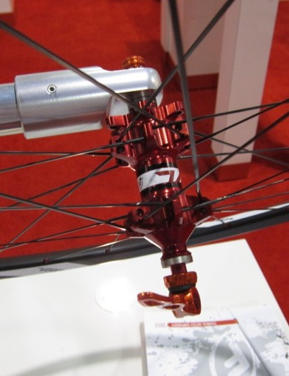 The Volo front hub fits 9mm quick-release, 15mm and 20mm through-axles