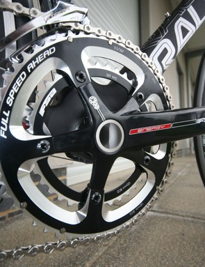 BB30 bottom bracket shell fitted with an FSA Energy chain set and BB