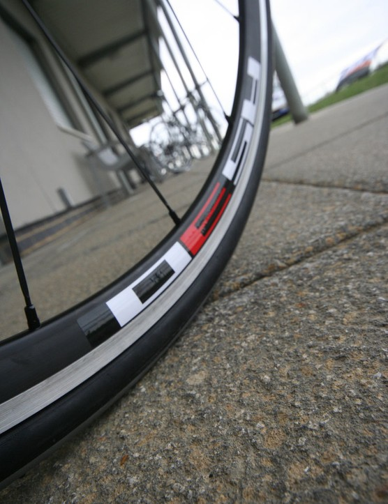 The SP Race gets a Shimano RS30 wheel set and Schwalbe Durano tyre combo