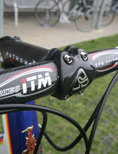 ITM Carbon bar and stem, as used by the Pro team