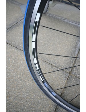 R500 wheels and colour matched 25mm Schwalbe Durano tyres