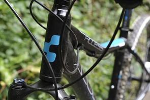 Longer head tube forms part of the women's bike specific geometry