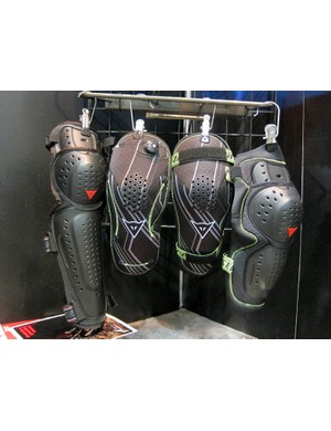 Dainese will offer a full range of pads for 2012, including conventional hard shell and soft shell varieties plus the new Boa-equipped range