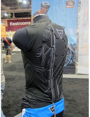 Dainese's new Rhyolite vest features low-profile padding around the chest, back, kidneys, and shoulders