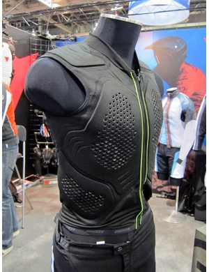 The multi-layer padding on the back of Dainese's Rhyolite vest is custom molded to follow the contours of your body
