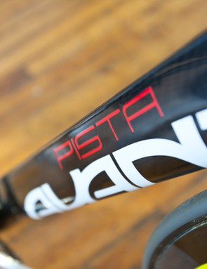The deep aero profile downtube of the Avanti Pista maximises the frames stiffness