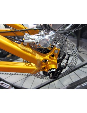Turner Bicycles will use thru-axle dropouts and post mount rear brake tabs across the board for 2012.