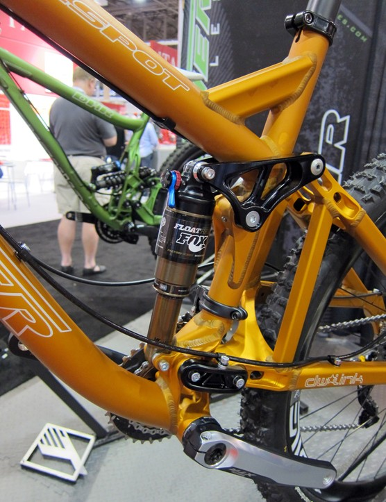 The seat tube on Turner's mountain bikes is a busy area given the short dw-links.
