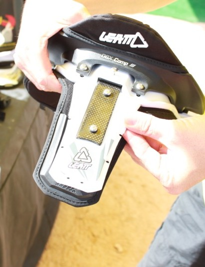 The padding locks onto the brace