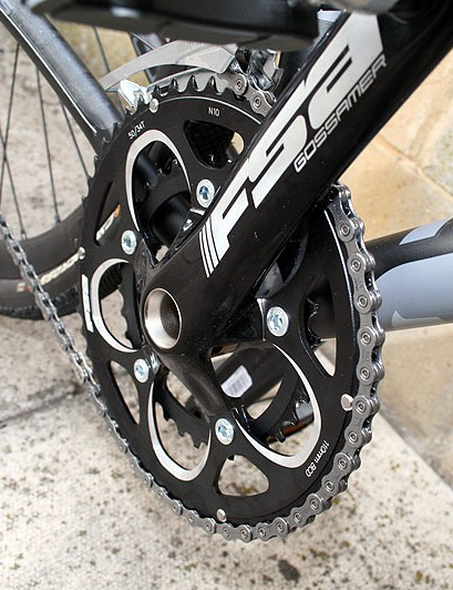 The AX4 is fitted with an FSA Compact crankset
