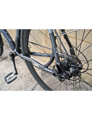 Tektro Lyra disc brakes on the front and rear of the AX4