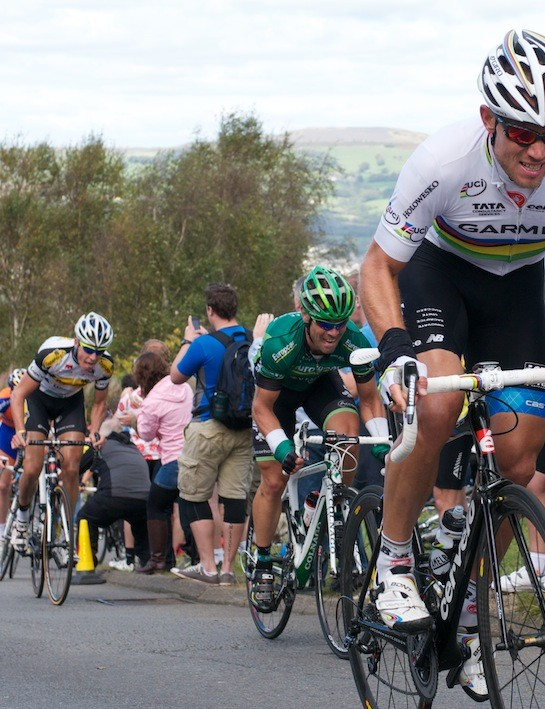 Stage 4: Hushovd on his way to winning in Caerphilly