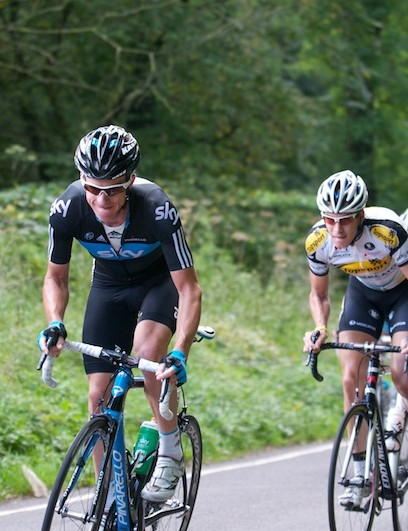Stage 6: Dan Lloyd and Michael Rogers attack up Old Bristol Hill